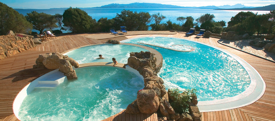 Hotel capo d 39 orso thalasso spa 5 stelle lusso a palau for Piscine d hotel
